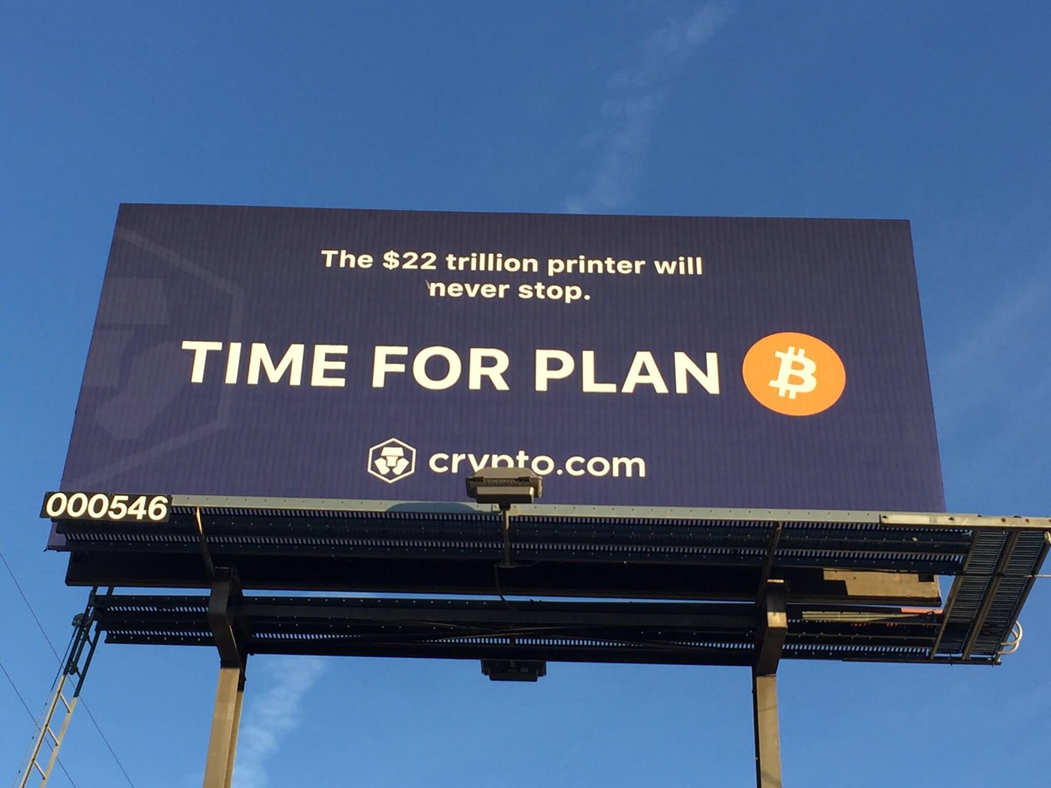bitcoin billboard
