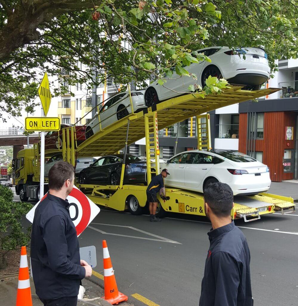 tesla delivery truck